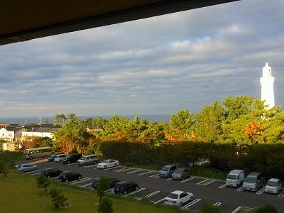 宿の窓からの眺め